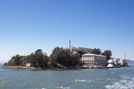 alcatraz: The Alcatraz Island as seen from San Francisco Bay