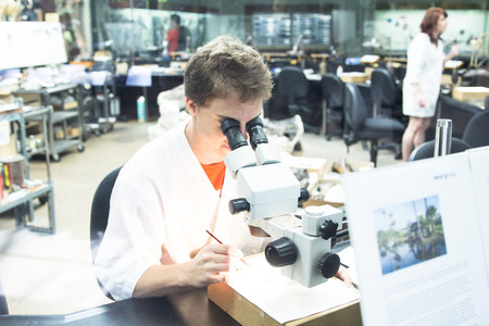 LOS ANGELES - SEPTEMBER 7, 2014: Scientific research at the La Brea Tar Pits. September 7, 2014 in Los Angeles