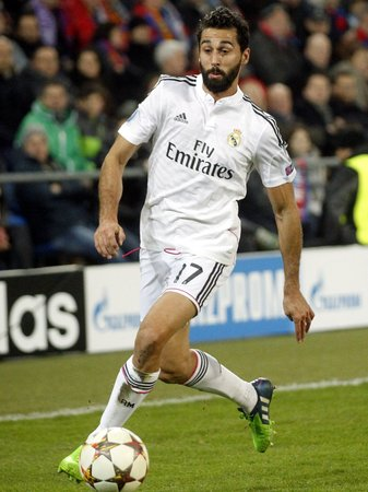 BASEL, SWITZERLAND - November 26: Alvaro Arbeloa of Real Madrid in the Champions League match between FC Basel and Reale Madrid at St Jacob-Park November 26, 2015 Basel, Switzerland.