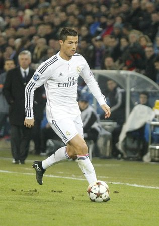 reale: BASEL, SWITZERLAND - November 26: Cristiano Ronaldo of Real Madrid in the Champions League match entre Reale Madrid and FC Basel at St Jacob-Park November 26, 2015 Basel, Switzerland.