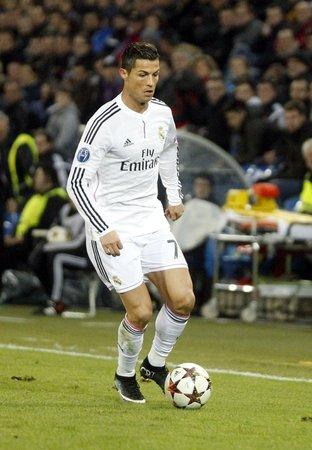 バーゼル、スイス連邦共和国 - 11 月 26 日: クリスティアーノ Ronaldo のチャンピオンズ リーグの試合エントレ Reale マドリードでレアル マドリードと