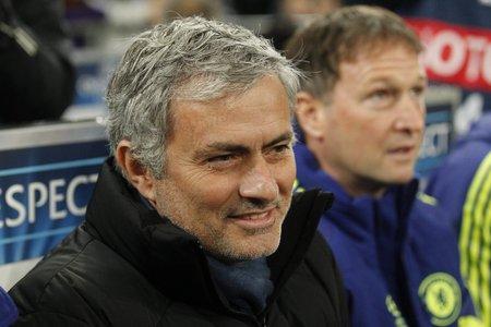 chelsea: Gelsenkirchen, Germany - November 25: Jose Mourinho DURING THE entre Champions League match FC Schalke 04 and Chelsea at Veltins-Arena November 25, 2015 in Gelsenkirchen, Germany