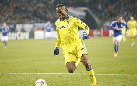 Gelsenkirchen, Germany - November 25: Didier Drogba  DURING THE entre Champions League match FC Schalke 04 and Chelsea at Veltins-Arena November 25, 2015 in Gelsenkirchen, Germany