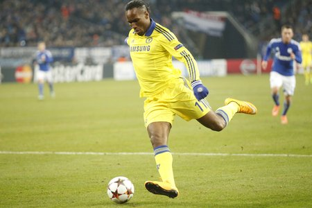 cote ivoire: Gelsenkirchen, Germany - November 25: Didier Drogba  DURING THE entre Champions League match FC Schalke 04 and Chelsea at Veltins-Arena November 25, 2015 in Gelsenkirchen, Germany
