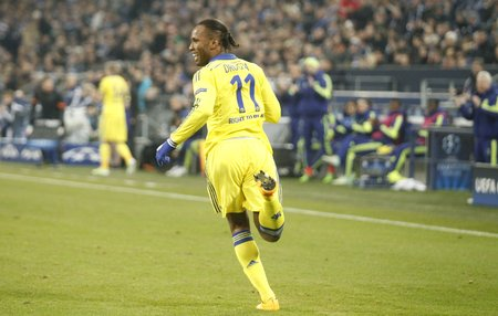 chelsea: Gelsenkirchen, Germany - November 25: Didier Drogba  DURING THE entre Champions League match FC Schalke 04 and Chelsea at Veltins-Arena November 25, 2015 in Gelsenkirchen, Germany