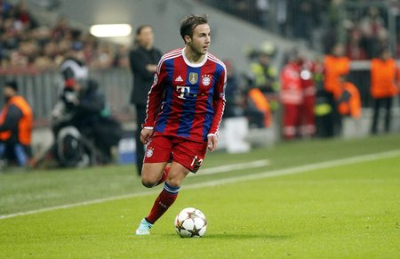 mario: Munich, Germany - November 5: Mario Gotze DURING THE entre Champions League Bayern Munich and AS Roma at the Allianz Arena November 5, 2015 Munich, Germany