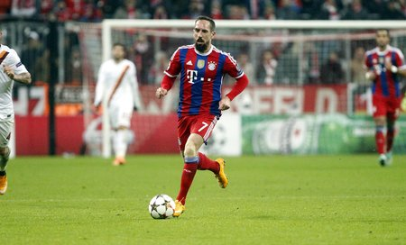 francais: Munich, Germany - November 5: Franck Ribery during the Champions League between Bayern Munich and AS Roma at the Allianz Arena November 5, 2015 Munich, Germany Editorial