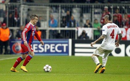 inter: Munich, Germany - November 5: Xherdan Shaqiri DURING THE Champions League between Bayern Munich and AS Roma at the Allianz Arena November 5, 2015 Munich, Germany