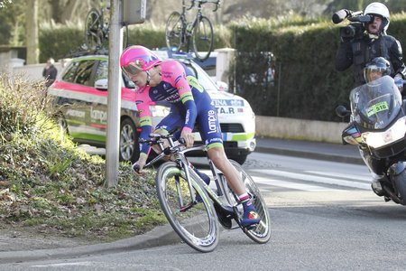 rui: Maurepas, France - March 8 Rui Costa Lampre DURING THE prologue of Paris - Nice cycling March 8, 2015 Maurepas, France