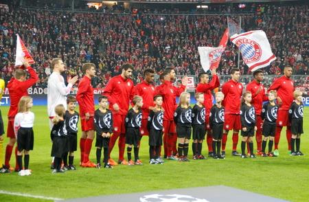 champions league: Munich - November 4: Bayern Munich In the Champions League Bayern Munich match - Arsenal FC at the Allianz Arena November 4, 2015 Munich, Germany Editorial