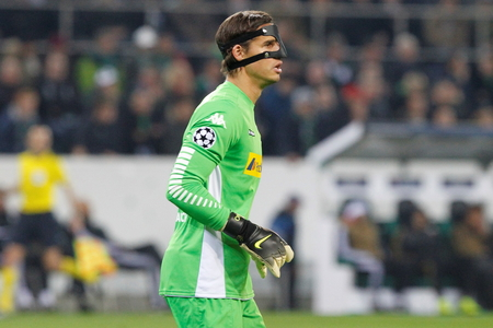 sommer: Yann Sommer at the Champion League match Borussia Monchengladbach - Borussia Juventus In stage - Parc November 3, 2015, Monchengladbach, Germany