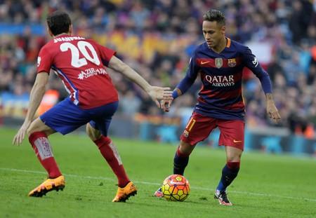 FC バルセロナ リーガエスパニョーラ ・ アトレティコ ・ マドリード 2016 年 1 月 30 日バルセロナ、カンプノウでの試合中に Neymar jr