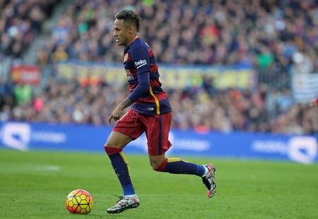 FC バルセロナ リーガエスパニョーラ ・ アトレティコ ・ マドリード 2016 年 1 月 30 日、スペインのバルセロナ、カンプノウでの試合中に Neymar ジュニ 報道画像