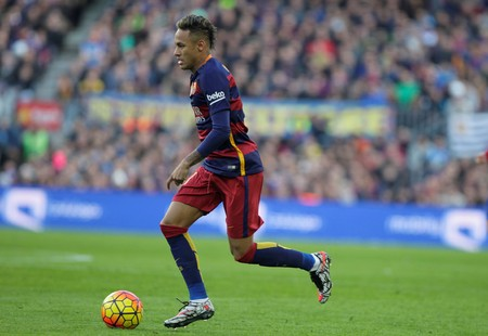 Neymar Jr. during the match FC Barcelona Liga - Atletico Madrid January 30, 2016 at the Camp Nou, Barcelona, Spain