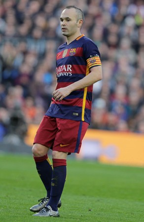 Andres Iniesta during the match FC Barcelona Liga - Atletico Madrid January 30, 2016 at the Camp Nou, Barcelona, Spain Editorial