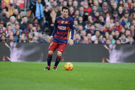 messi: While Lionel Messi FC Barcelona Liga match - Atletico Madrid January 30, 2016 at the Camp Nou, Barcelona, Spain Editorial