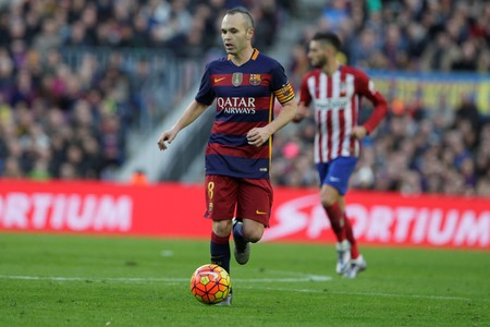 iniesta: Andres Iniesta during the match FC Barcelona Liga - Atletico Madrid January 30, 2016 at the Camp Nou, Barcelona, Spain Editorial