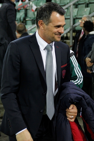 willy: Willy Sagnol in the match Europa League FC Sion - Girondins Bordeaux November 5, 2015 at the Stade whirlpool, Sion, Switzerland