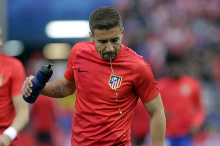 champions league: MADRID, SPAIN - April 27, Gaby in Action During the semifinal match of the UEFA Champions League first leg entre Atletico Madrid and the Bayen Munich at the Vicente Calderon April 27, 2016 Madrid, Spain
