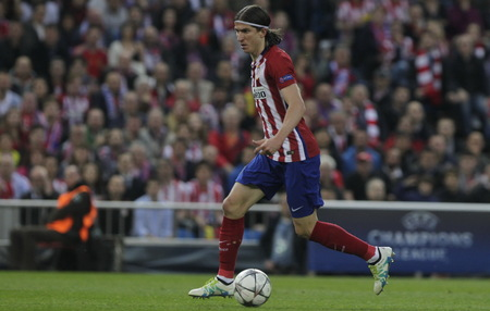 champions league: MADRID, SPAIN - April 27 Luis Felipe in Action During the semifinal match of the UEFA Champions League first leg entre Atletico Madrid and the Bayen Munich at the Vicente Calderon April 27, 2016 Madrid, Spain