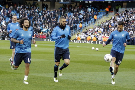 horizontale: MANCHESTER, England - April 26: in action during the semi final of the UEFA Champions League first leg between Manchester City and Real Madrid at the Etihad Stadium April 26, 2016 Manchester, England � Laurent Lairys  Agency Locevaphotos  Alamy Stock ne Editorial
