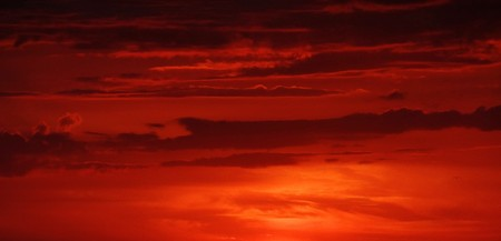 red sky: Red clouds at sunset Stock Photo
