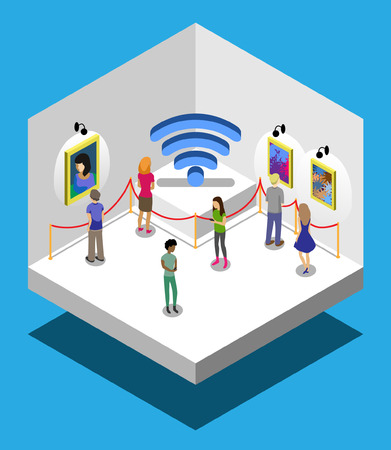 gallery with wifi Illustration