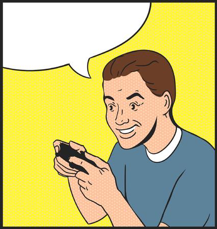 gamer: gamer and joystick