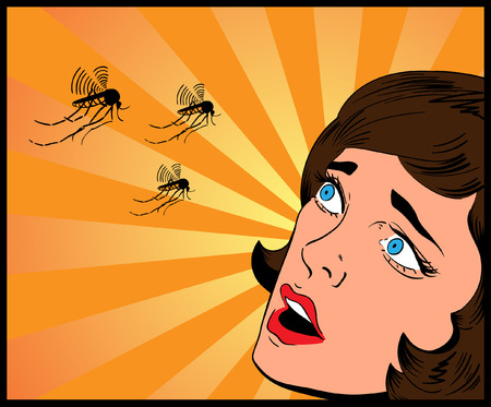mosquitos: woman and mosquitos