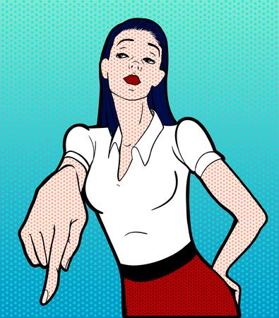 pop art woman: pop art woman