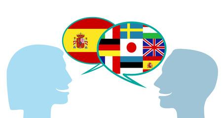 aprender idiomas Ilustración de vector