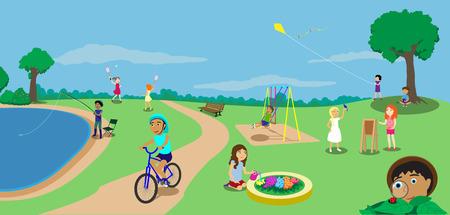 children playground: children playground Illustration
