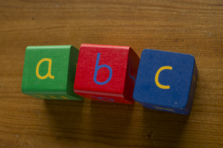 martinez: Colorful wooden blocks spelling the word ABC