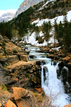 waterfalls in the Pyrenees photo
