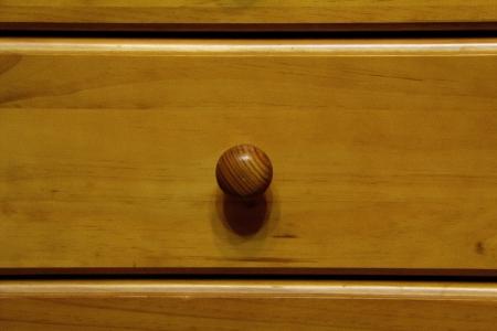drawer knob in a closet photo