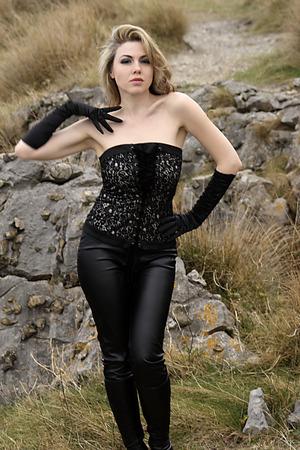 mujer: sexy woman posing caucasica Stock Photo