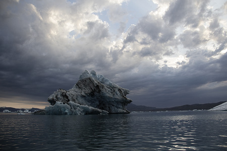 nordic country: iceberg in greenland