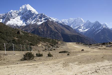 serac: high mountain landscape Stock Photo