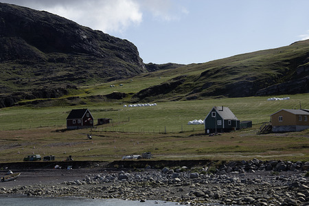 nordic country: farm in greenland Stock Photo