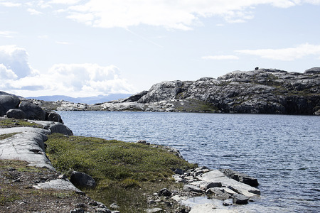 nordic country: lake of greenland Stock Photo