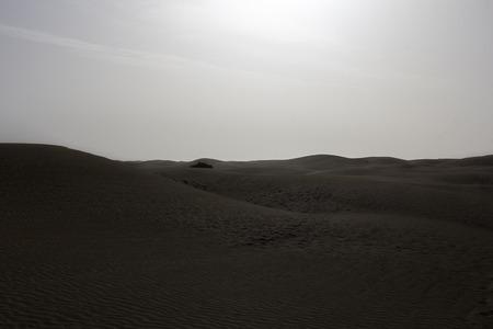 canary island: dune of maspalomas in canary island Stock Photo