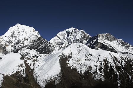 serac: view of gokyo valley in himalayas