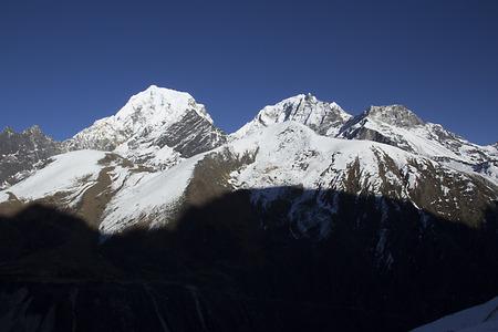 himalayas: view of gokyo valley in himalayas