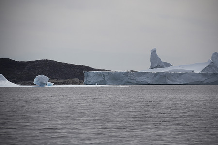 polar climate: iceberg in the coast of south greenland