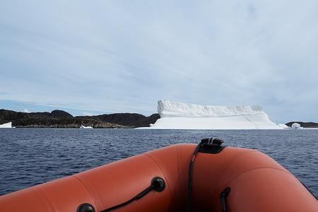 polar climate: iceberg in the coast of greenland