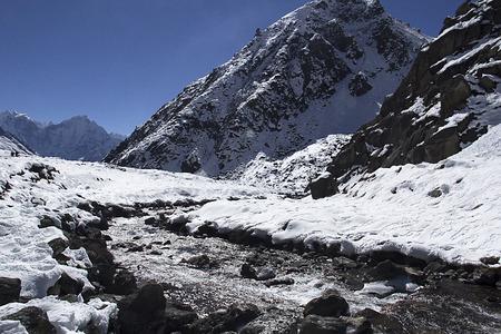 valley of Gokyo in Himalayas