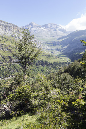 perdido: landscape of ordesas national park Stock Photo
