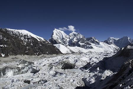serac: high mountains in himalayas