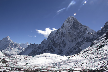 serac: landscape of mountains in himalayas
