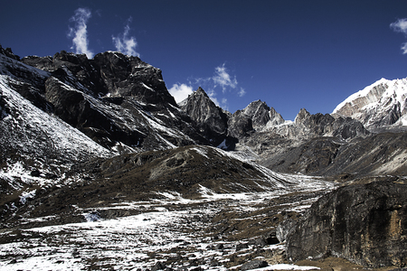 himalayas: landscape of mountains in himalayas